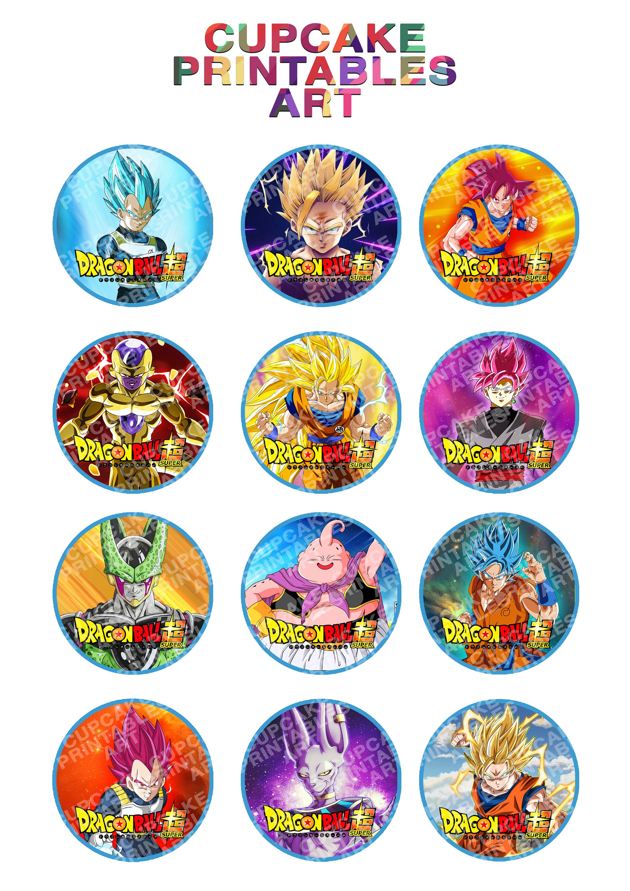 photo regarding Dragon Ball Z Printable identify Dragonball Tremendous Printable Cupcake Toppers Dragonball Z