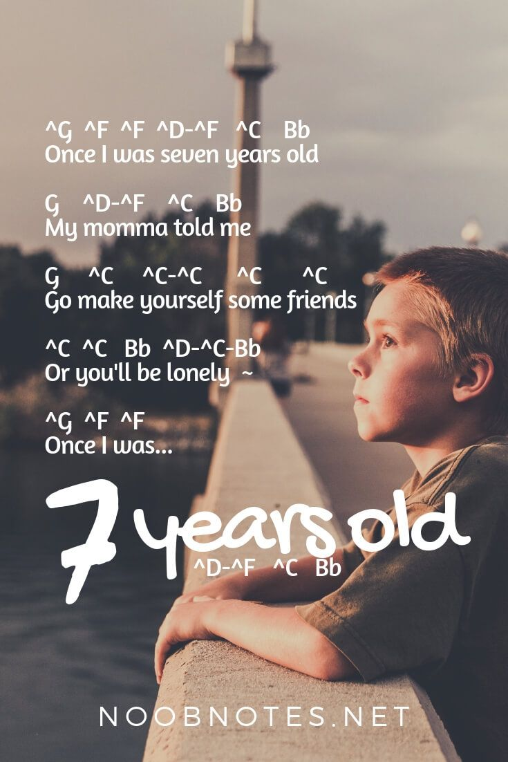 music-notes-7-years-lukas-graham - music notes for newbies