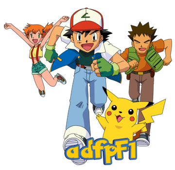 Ash Os Misty Brock Y Pikachu By Adfpf1 Pikachu Ash Clip Art