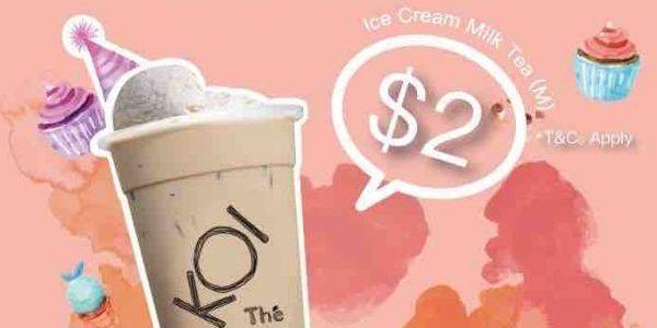 Koi Singapore 11th Birthday 2 Ice Cream Milk Tea Promotion 23 Oct 12 Nov 2017 Milk Tea 11th Birthday Ice Cream