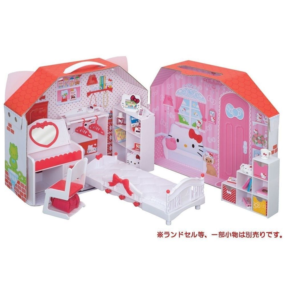 licca chan doll hello kitty house japan takara tomy cute. Black Bedroom Furniture Sets. Home Design Ideas