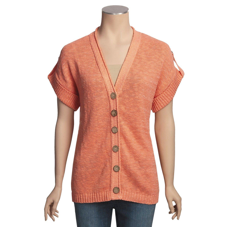 Avalin Slub Cardigan Sweater - Short Sleeve, V-Neck (For Women ...
