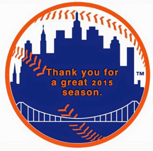 Mets Thank You For A Great 2015 Season  New York Mets  Pinterest