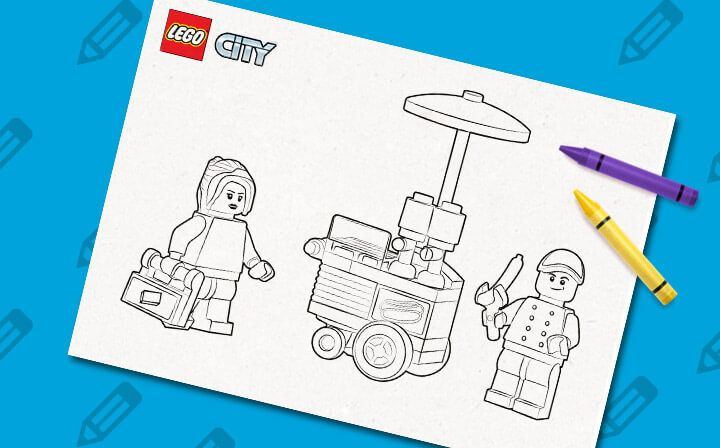 LEGO 60097 City Square coloring sheet LEGO® Coloring Sheets - copy lego movie coloring pages lord business