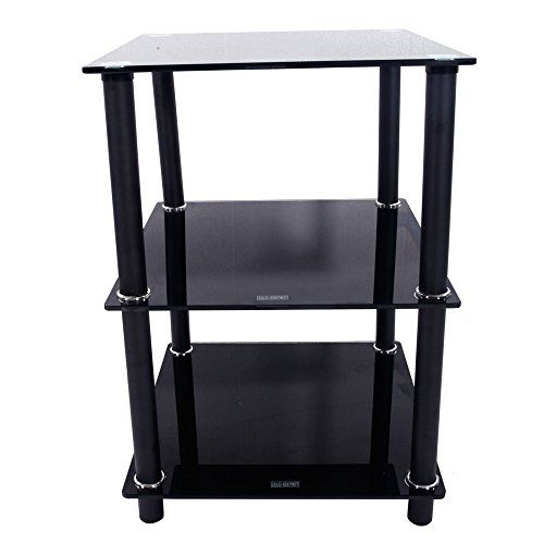 Best Soogo 3 Tiers Tempered Glass Side Table Rectangle End 400 x 300
