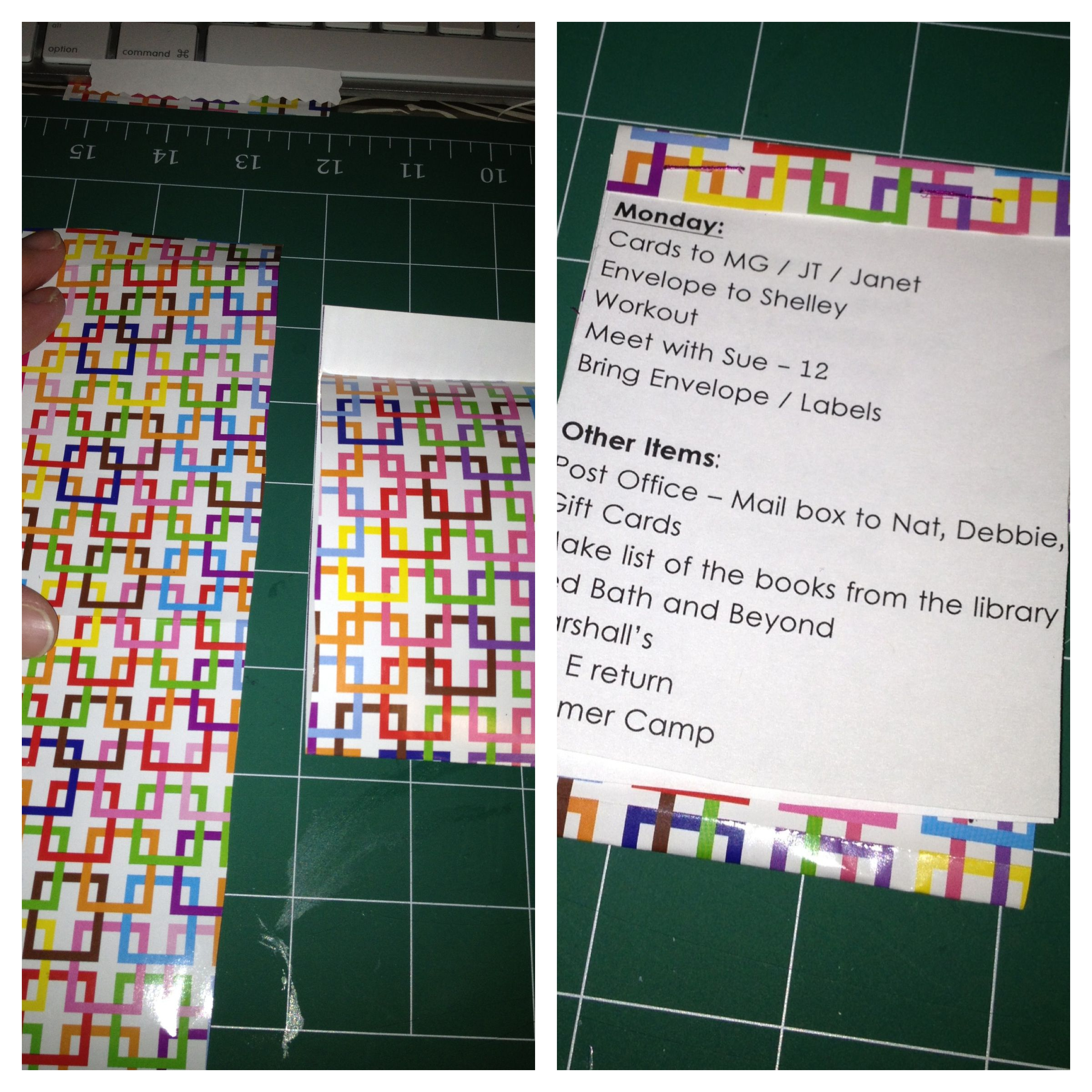 Matchbook paper craft. (Mine was a daily to do list) | crafts ...