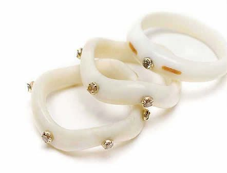 Monique Pean Walrus Ivory Rings With Diamonds For Your Jewelry