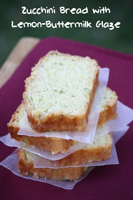 zucchini bread with lemonbuttermilk glaze recipe brandy