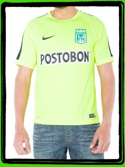 Camiseta Nike M/C Entrenamiento Verde Fosforecente Atlètico Nacional 2015