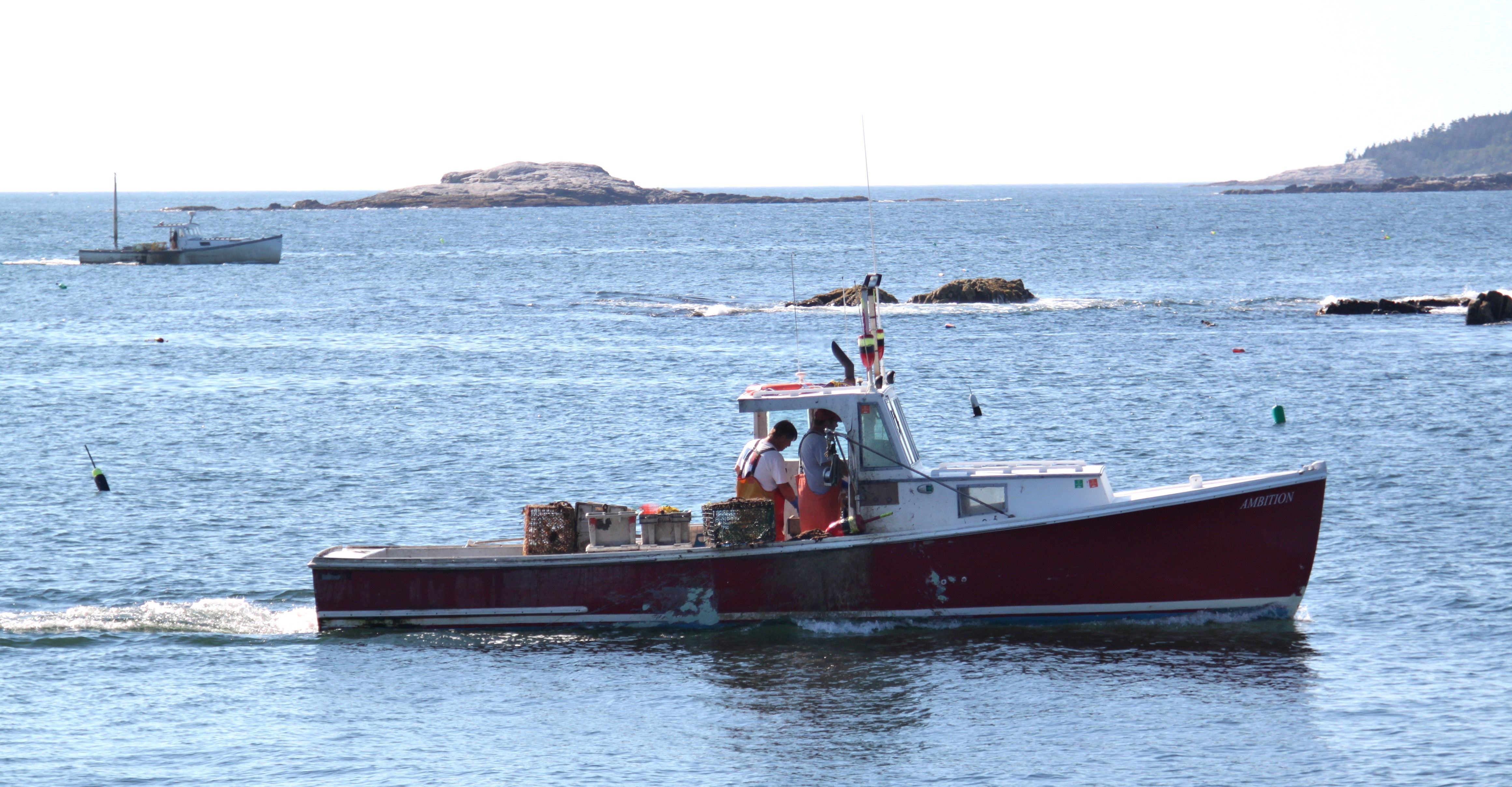 Red Lobster Boat Ocean Point Maine Boat Lobster Boat Ocean