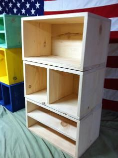 Marvelous Wooden Storage Cubes For Sale | 14 Colors | Free Shipping | 3 Sizes