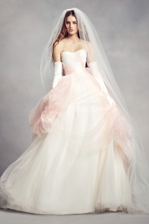 Hermoso vestido degradado de rosa a blanco de White by Vera Wang ...