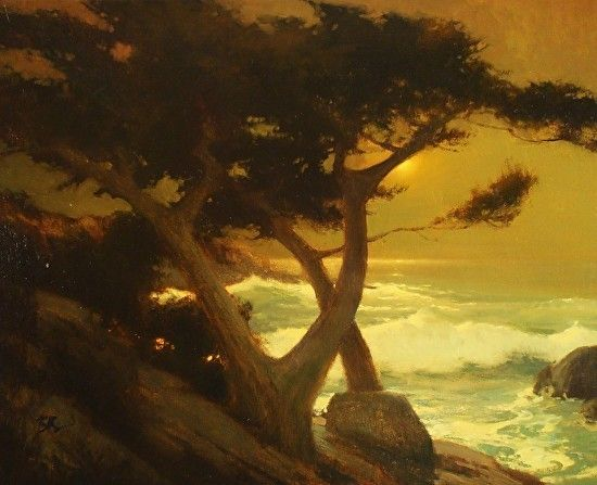 Brian Blood Fine Art Golden Cypress Oil  24 x 30