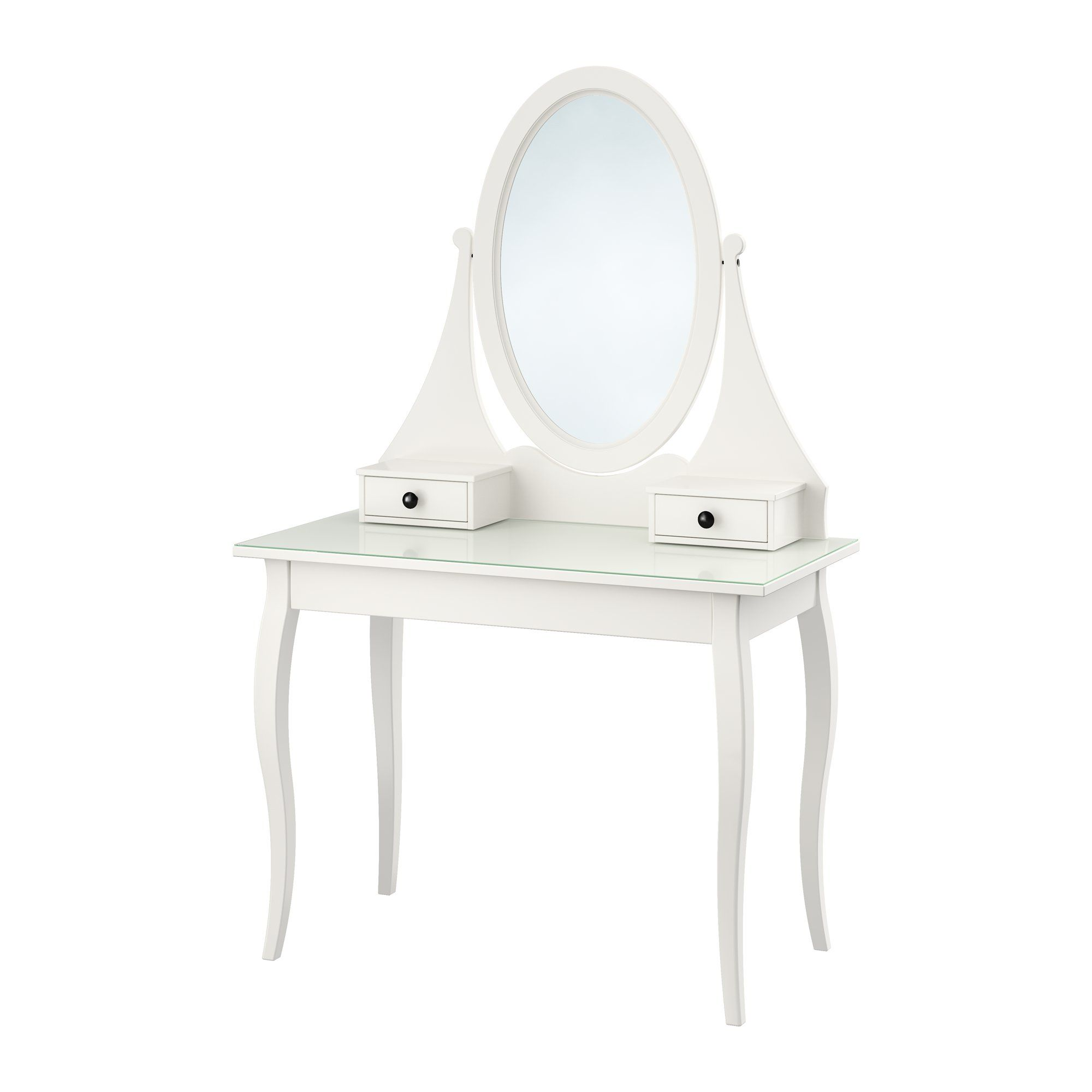 HEMNES Dressing Table With Mirror - IKEA | Vanity Tables