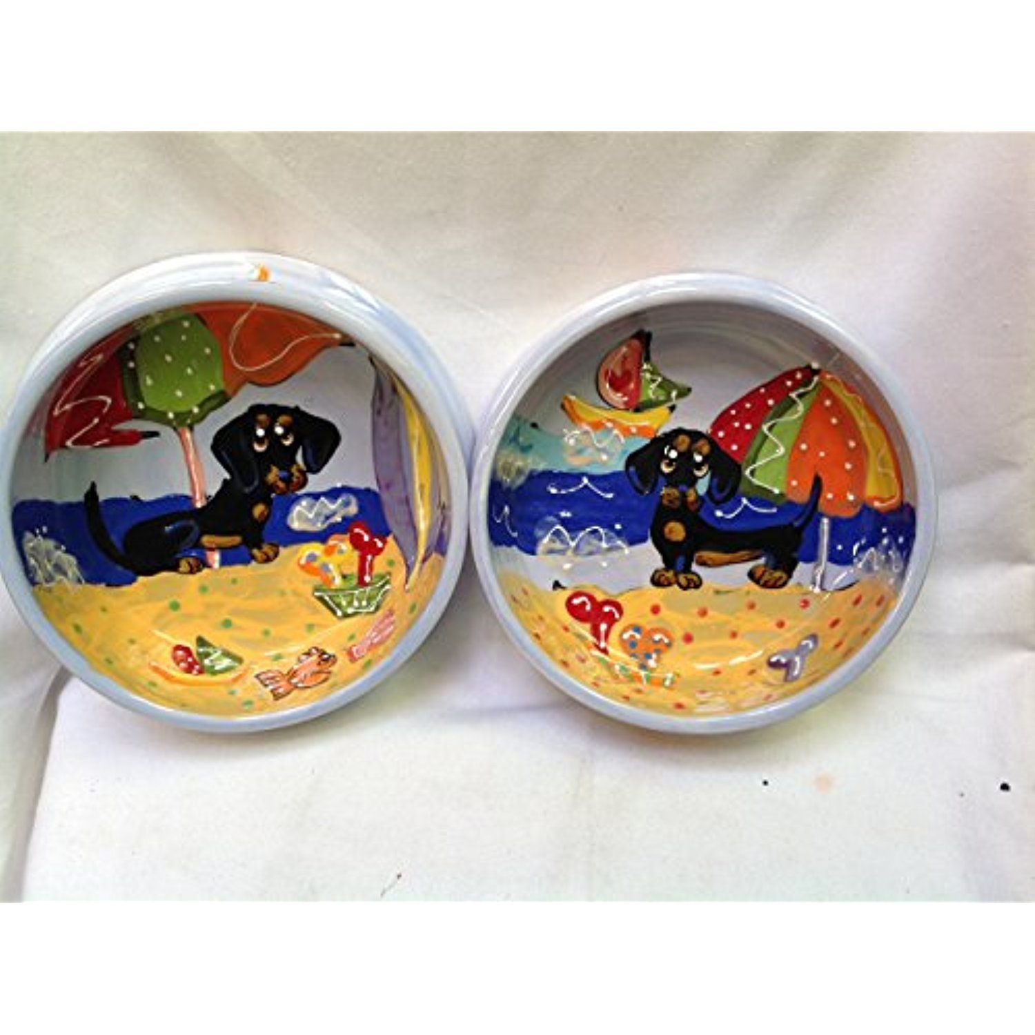 """Dachshund 6"""" Dog Bowls for Food and Water. Personalized at"""