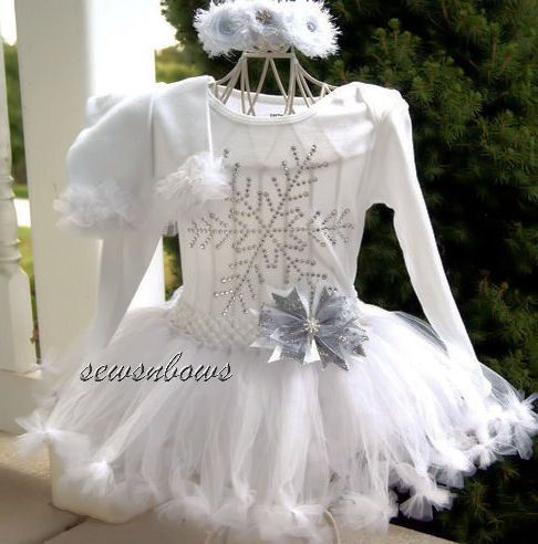 15e67da73c30 Christmas Snowflake Tutu-- Snowflake tutu-- Winter tutu-- Snowflake dress--  Flower girl Winter tutu