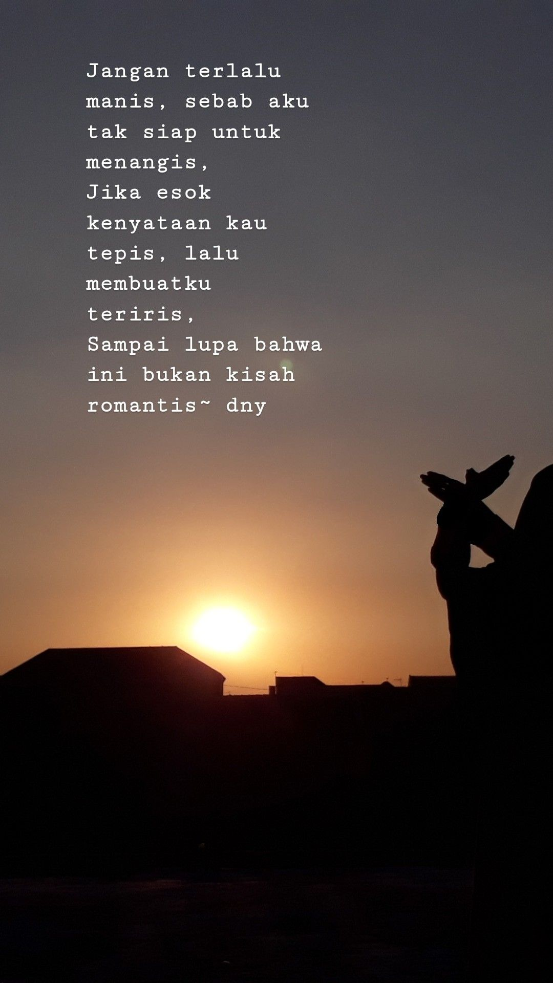 Sunset Senja Sky Quotes Romantis