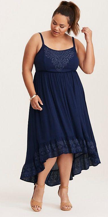 Plus Size Hi-Lo Maxi Dress | Plus Size Fashion | Dresses, Stylish ...