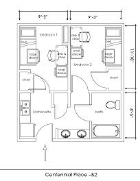 Floor Plans Room Layouts Housing Rates Georgia Southern University