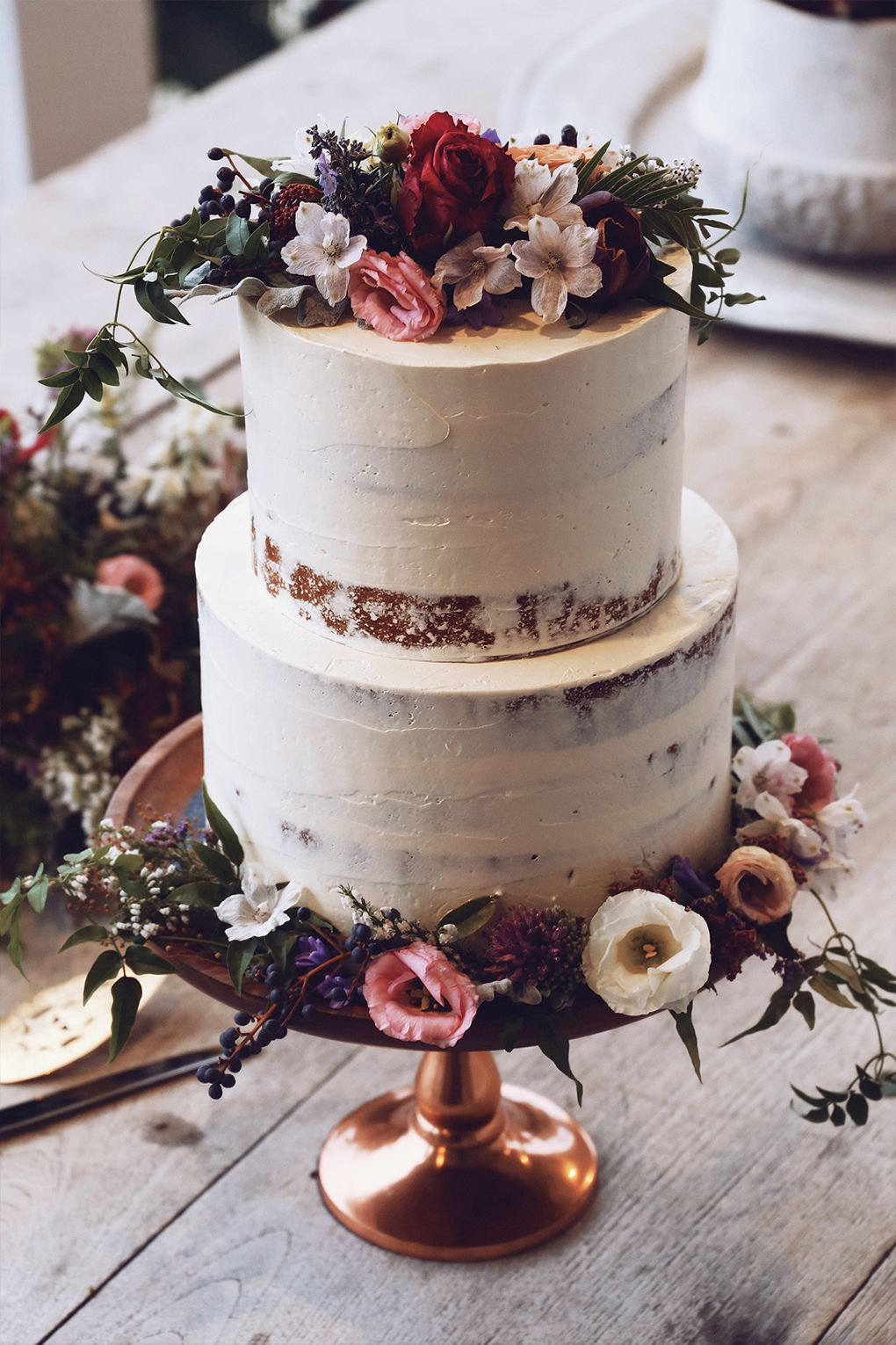 boho wedding cake flowers and after winter comes editorial grace lace 12080