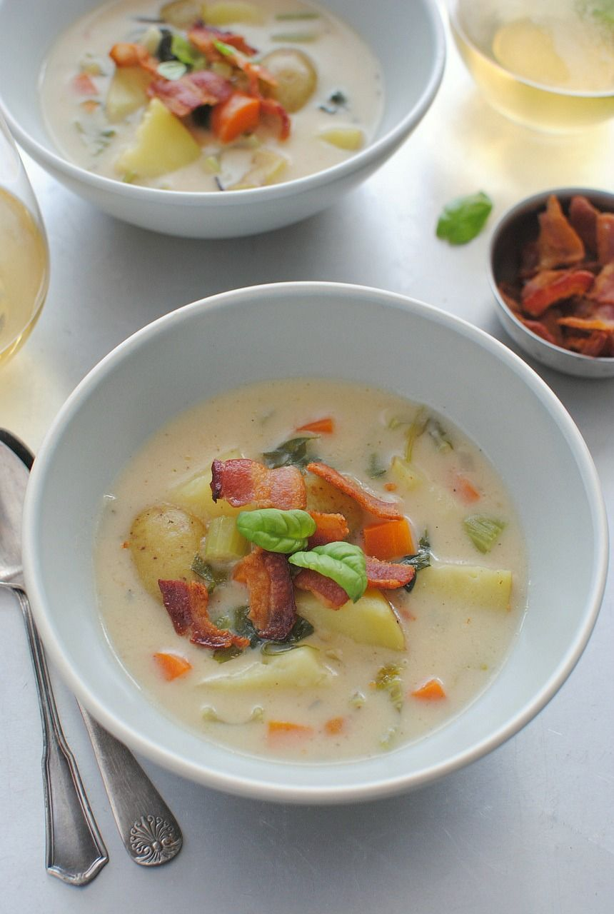 how to make creamy potato bacon soup