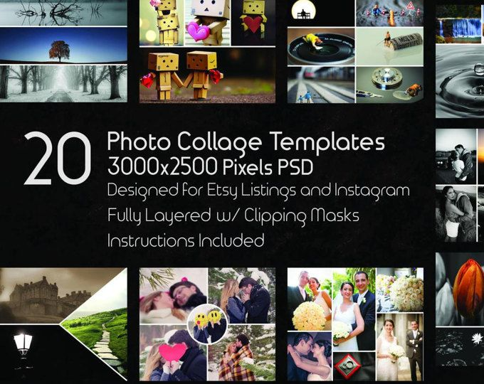 Photo Collage Templates, 20 PSD Templates, Photoshop Collage ...