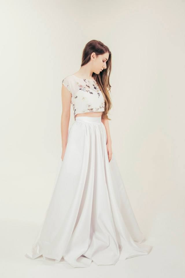 RTW Collection || E&W Couture || Aderyn Printed Crop || Seperates || Bridal Seperates || Alternative wedding dress