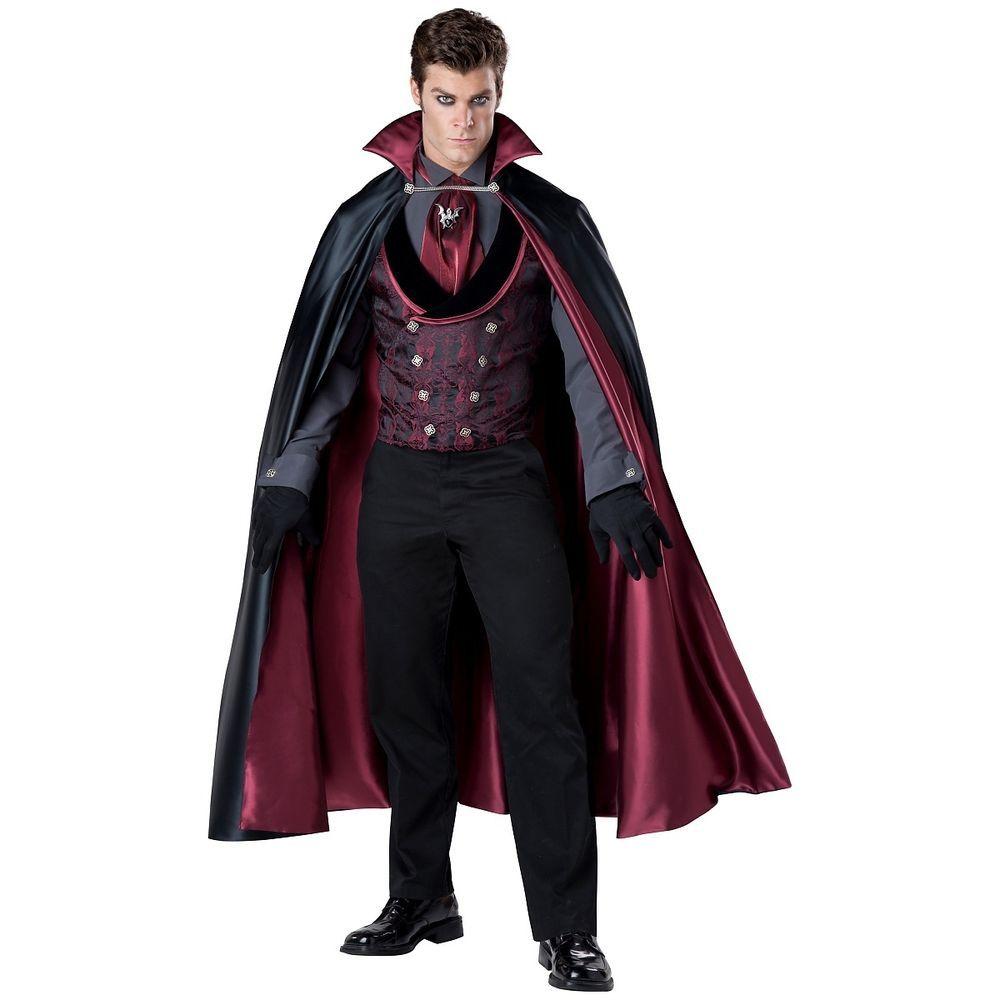 "Adult 34/"" Black Cape Outfit Fancy Dress Costume Halloween Dracula Vampire Cloak"