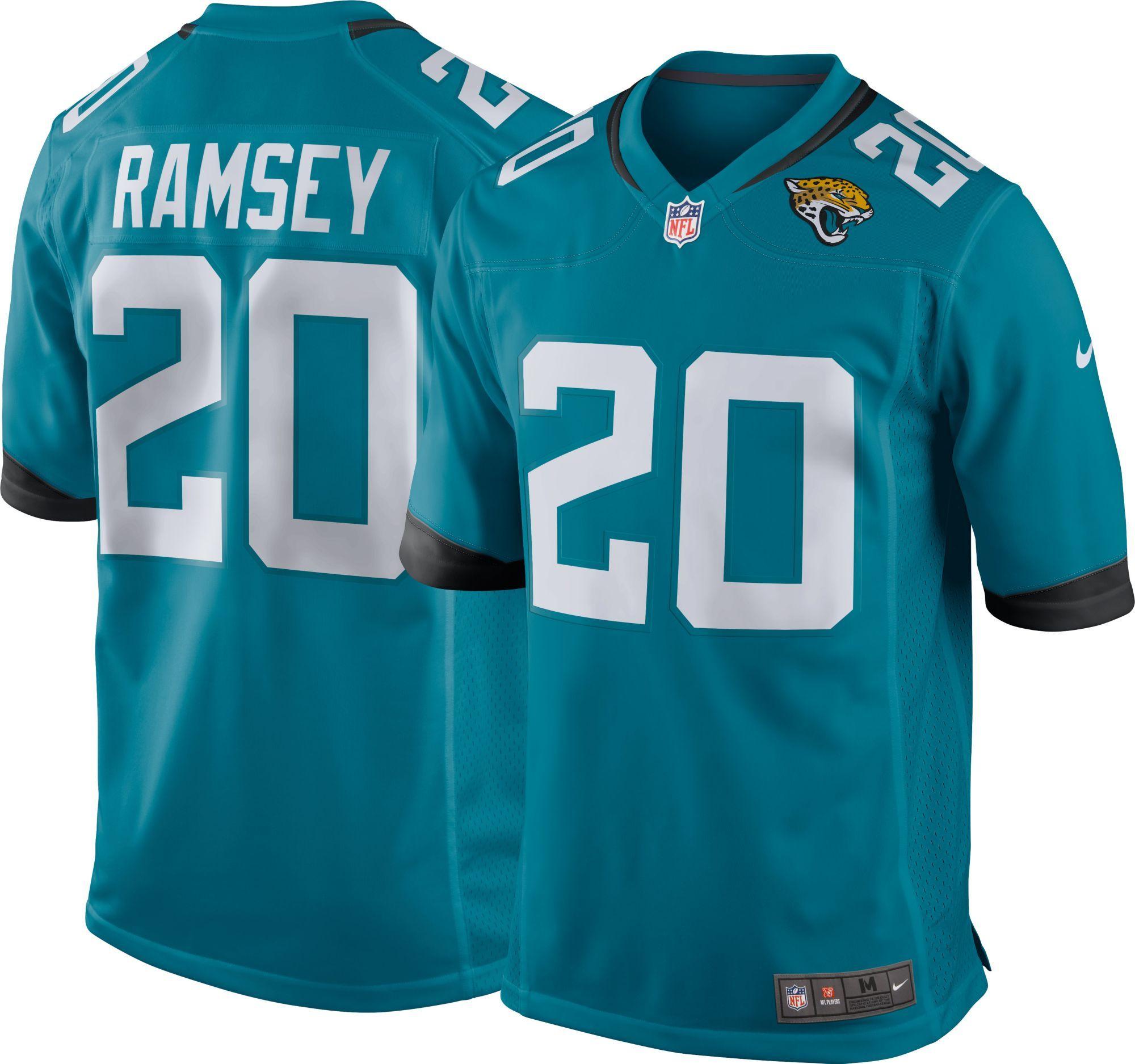 New Ramsey 20 Blue Nike Jacksonville Jaguars Men/'s NFL Game Jersey