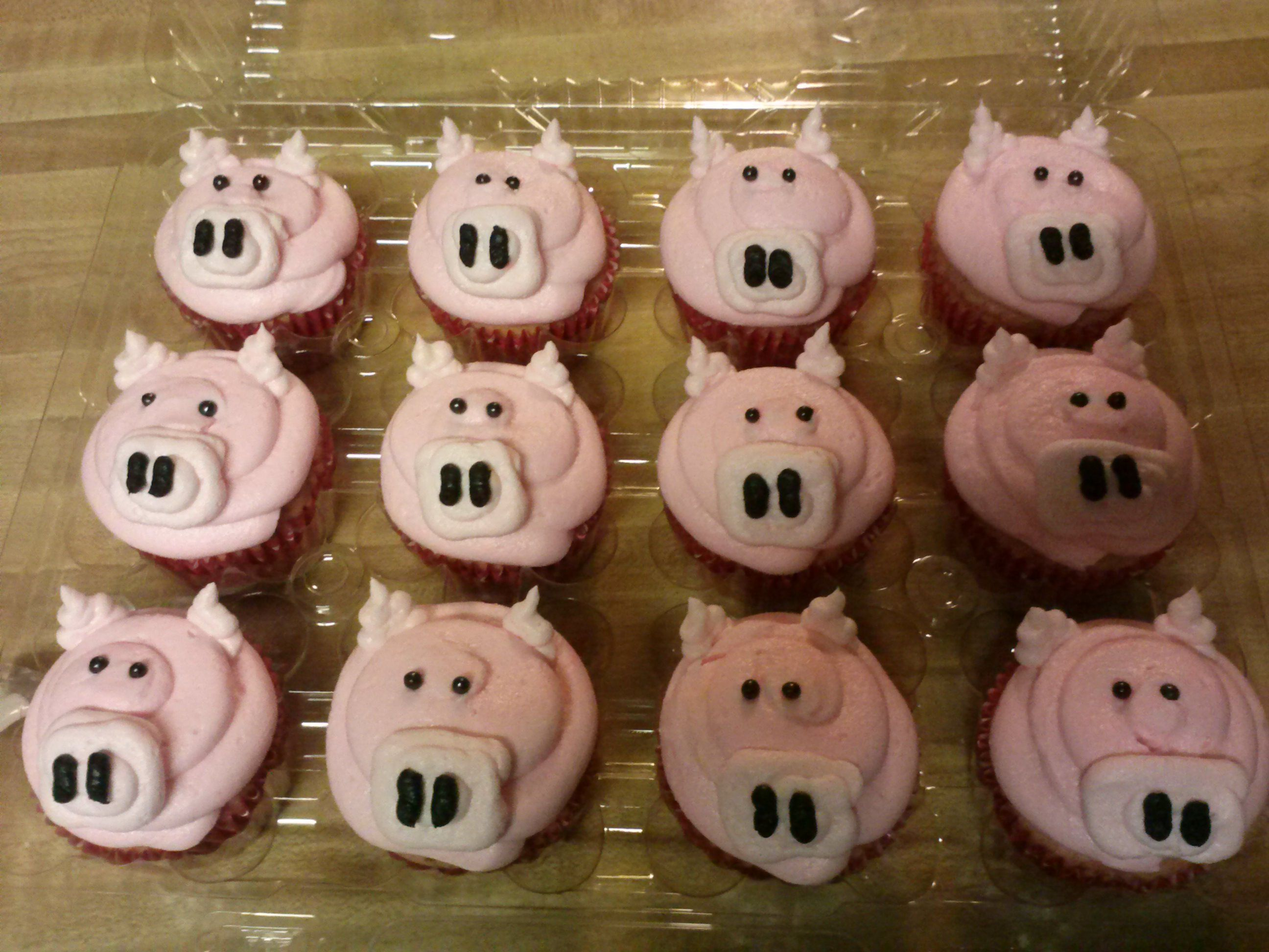 A drove of pigs!