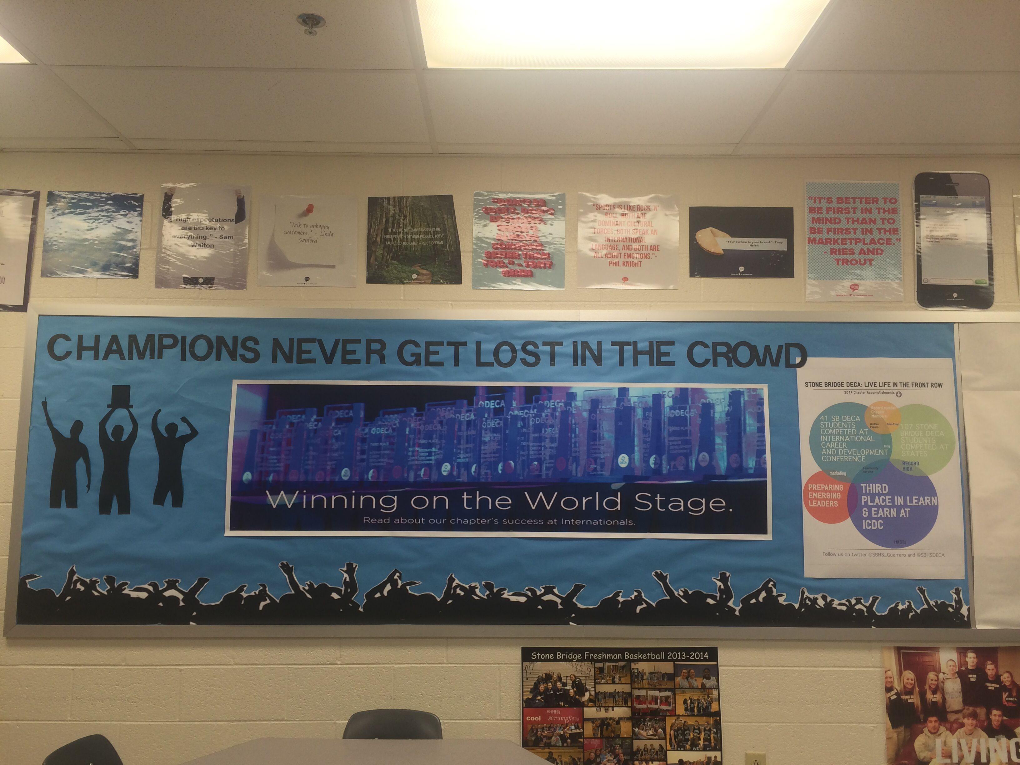 DECA Bulletin Board- Stone Bridge High School Ms Guerrero | DECA