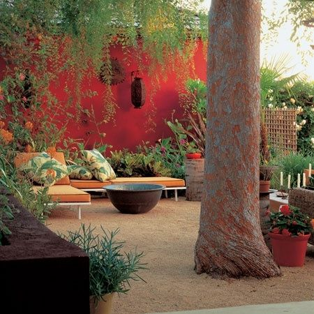 Tomato Red Wall...  Photo by Marion Brenner by tiquis-miquis