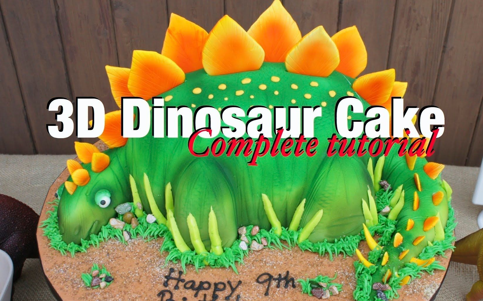 How to make Dinosaur cake Complete video tutorial Stegosaurus