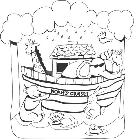 Noah's Ark coloring page from Noah's Ark category. Select