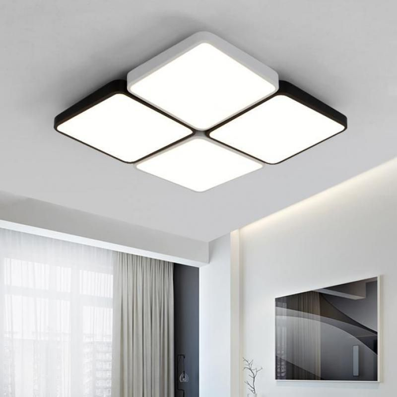 Square 4 12 Pcs Led Lights For Office Living Room Study Room Ceiling Lamp Reading Big Pane Ceiling Lights Living Room Kitchen Ceiling Lights Living Room Office