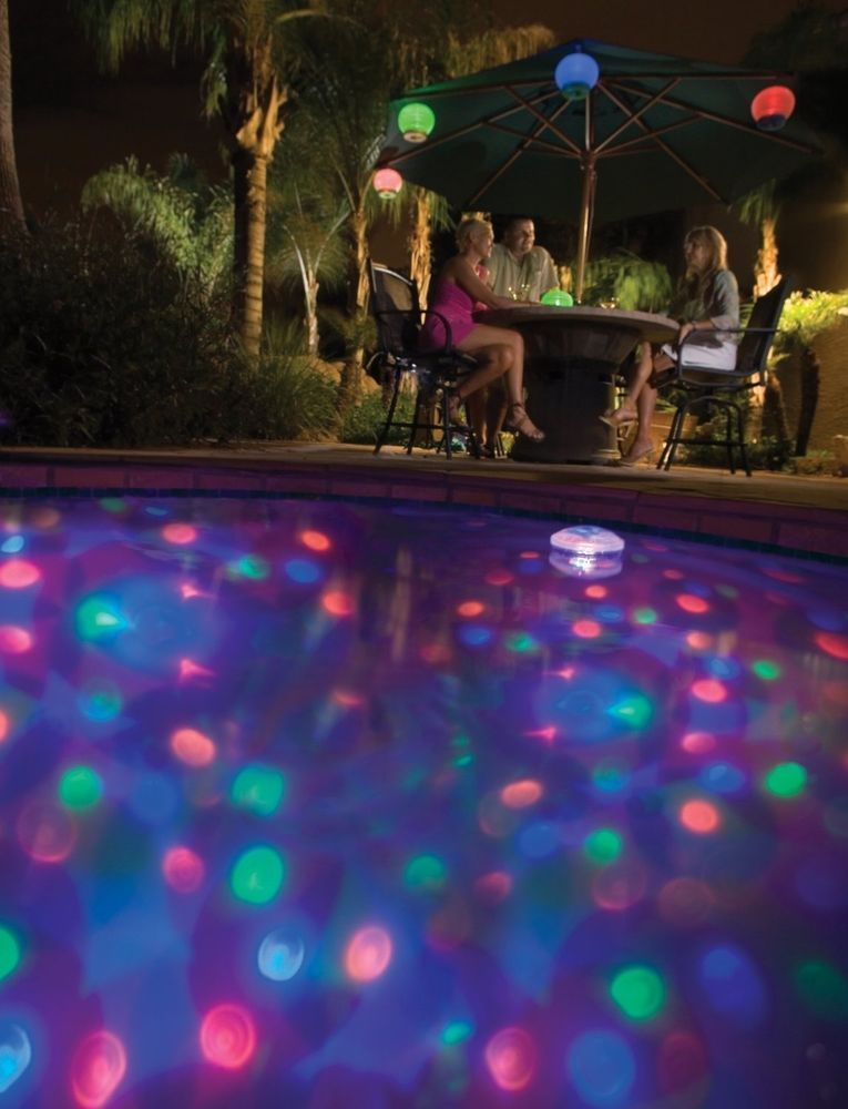 Aquaglow Underwater Floating Disco Light Show And Fountain Pool Lighting Party Swimming Pool Lights Pool Lights Swimming Pool Gifts