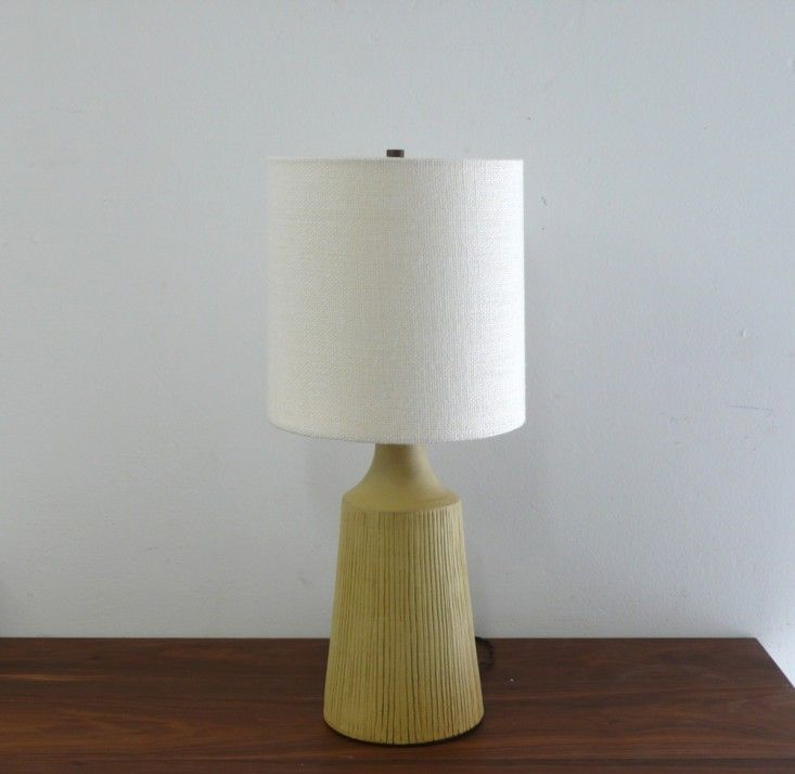 Ceramic Table Lamps From An La Modernist Remodelista Lamp Ceramic Table Lamps Yellow Lamp