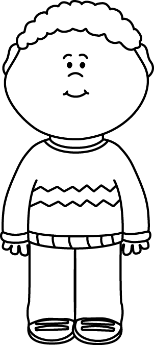 Black And White Kid Wearing A Sweater Clip Art Black And White Kid Wearing A Sweater Image Clip Art Children Sketch Clipart Black And White