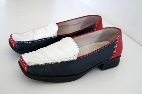 857dd8f8c14 GABOR Sport shoes Vintage Womens shoes Genuine Leather shoes Blue ...