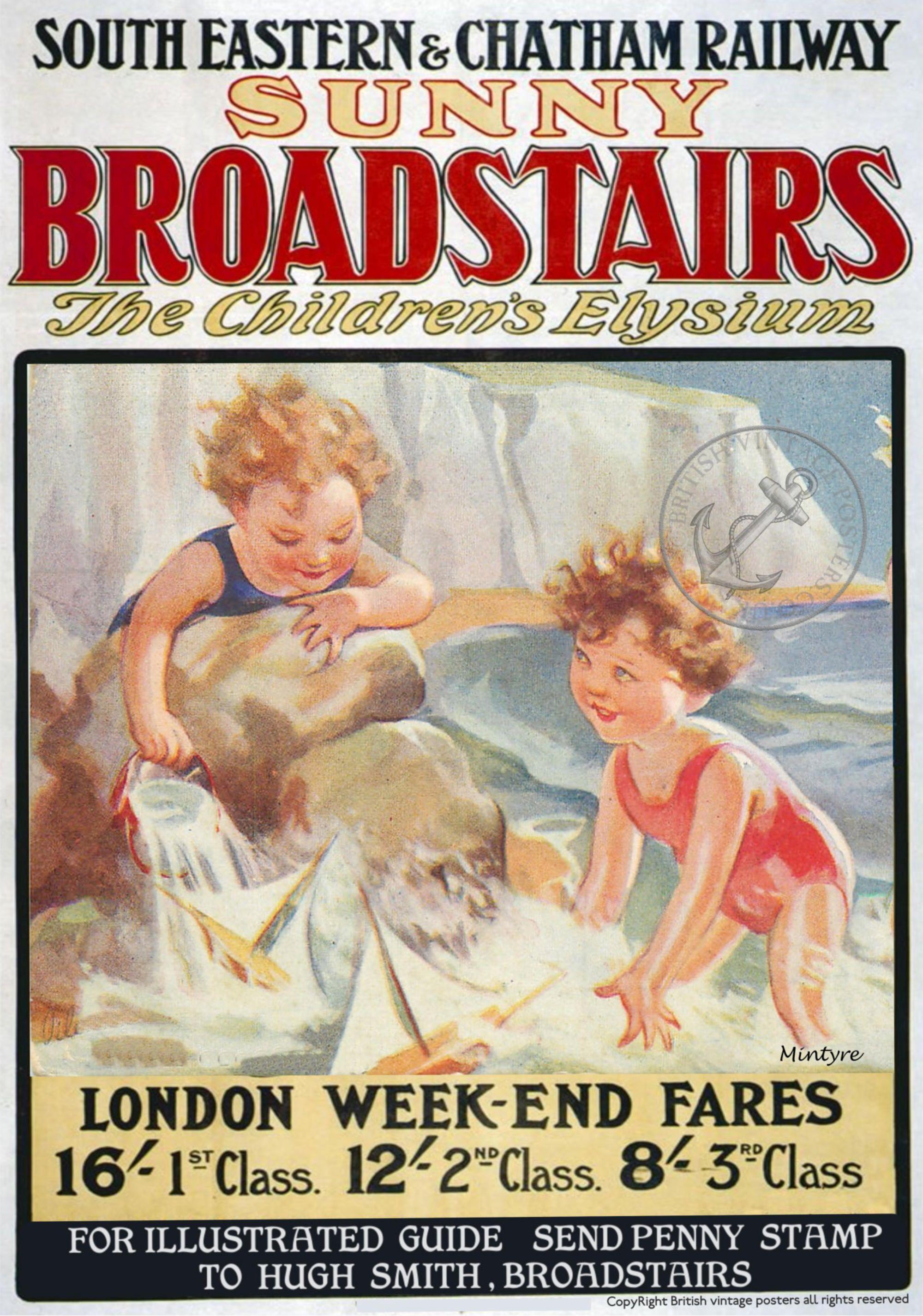 Vintage Railway Seaside Holiday Posters Broadstairs Railway Posters Travel Posters