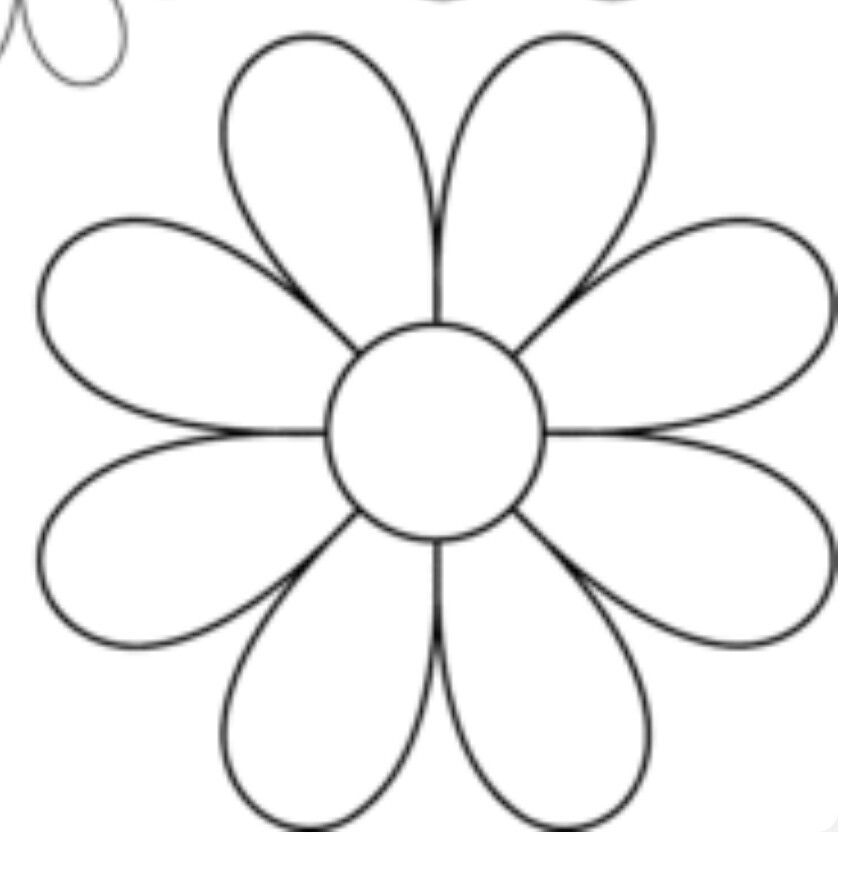 daisy cut out template pin by roxana quesada salas on flores pinterest
