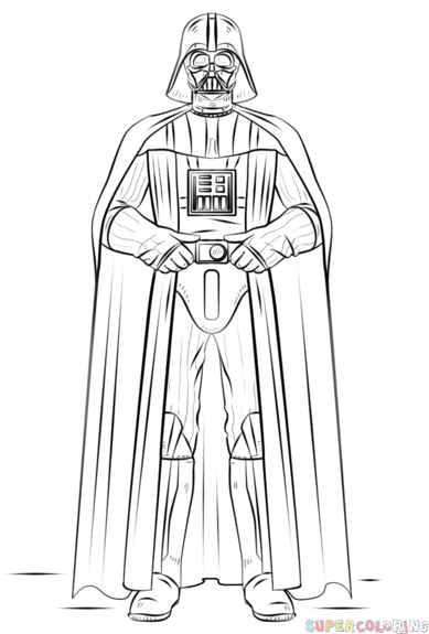 How to draw Darth Vader step by