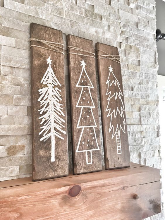 Wooden Decor Signs 14 Rustic White Winter Signs For Mantel Decor  Digsdigs  Ideas