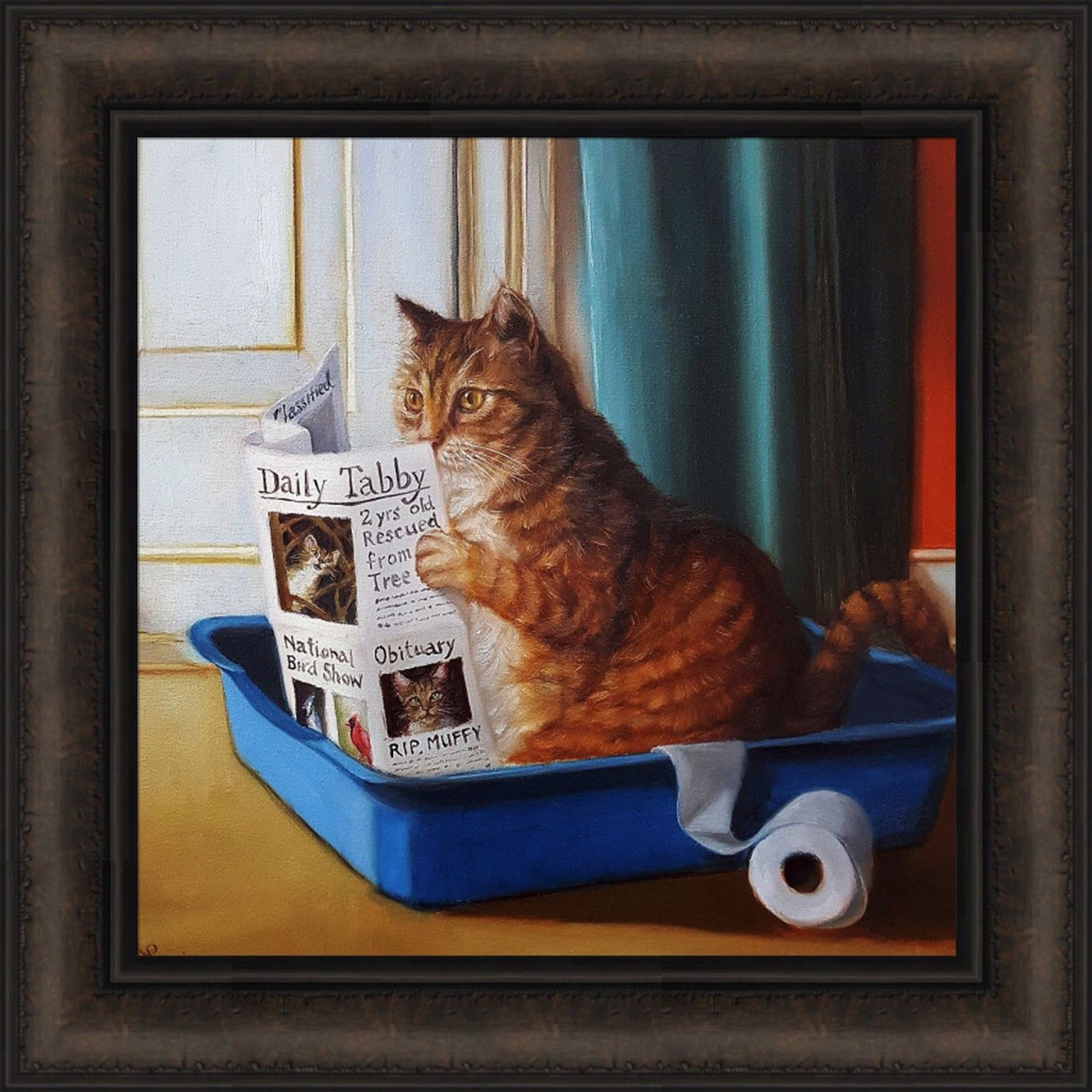 Details About Kitty Throne By Lucia Heffernan 18x18 Framed Print