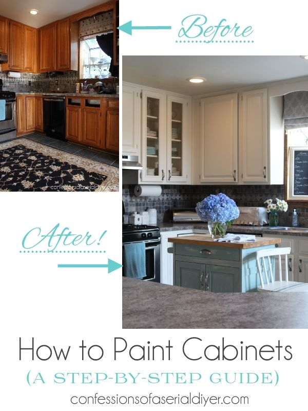 How To Paint Kitchen Cabinets A Stepbystep Guide  For The Mesmerizing Spray Painting Kitchen Cabinets Decorating Inspiration