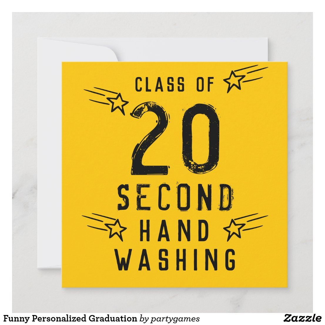 Funny personalized graduation card in 2020