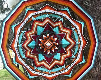 Items similar to Miracle, yarn mandala ~ Ojo de Dios, 14.5 inches (37 cm), 8-sided, wall hanging on Etsy