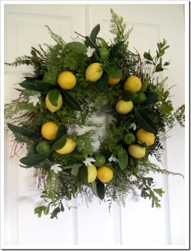 Gail's Decorative Touch: A Wreath of Lemons and Limes