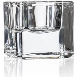 Photo of Tealight holder Square H. 4.8cm D. 5cm glass transparent Sandra Rich Sandra RichSandra Rich