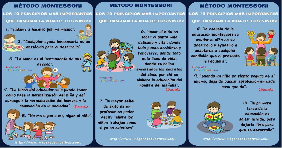 Los 10 principios más importantes que cambian la vida de los niños según Maria Montessori